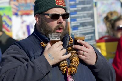 Winter Beer Festival Pretzel Necklace
