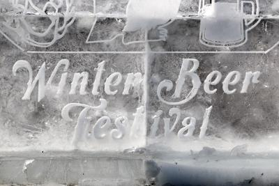 Winter Beer Festival Ice Sculpture