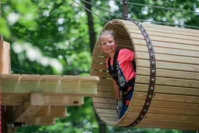 Girl at the ZipZone Adventure Park