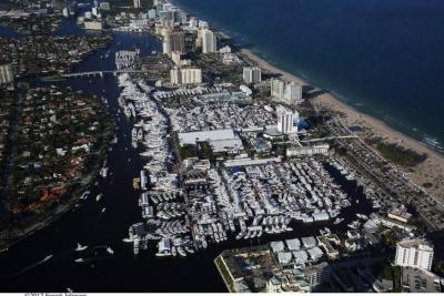 Aerial view of the Fort Lauderdale coastline