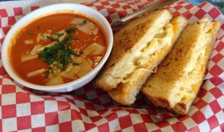 The tomato soup from Deli-licious pairs well with mac 'n cheese or a grilled cheese sandwich!