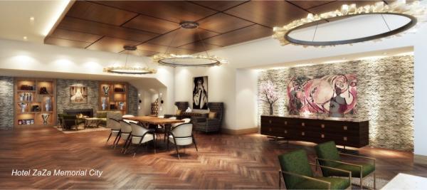 Lobby in Hotel Zaza in Memorial City Houston