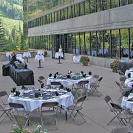 Snowbird's conference staff caters to indoor and outdoor events.