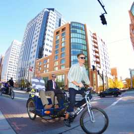 Mayor Ralph Becker takes a ride