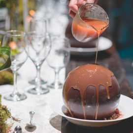 Formal Corporate custom menus dessert