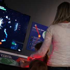 Defend the Earth, interactive exhibit