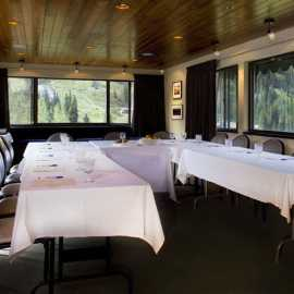 Summer conference room at Alta Lodge
