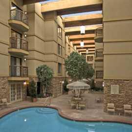 Indoor pool and atrium
