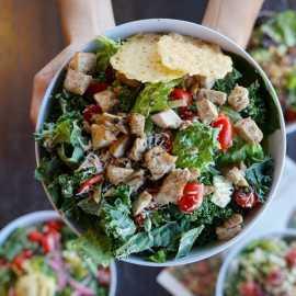 Kale Ceasar Chicken bowl