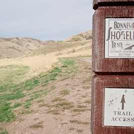 Bonneville Shoreline Trailhead marker, photo by Brant Hansen