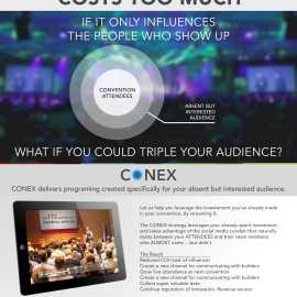 Reach your absent but interested audience through CONEX