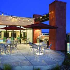 Home2Suites Nighttime Patio