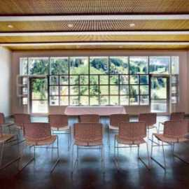 Meeting room during summer season at Alta Lodge