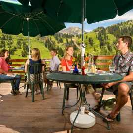 Alta Lodge outdoor dining