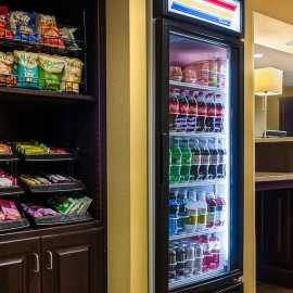 Snack shop at the front desk, open 24 hours
