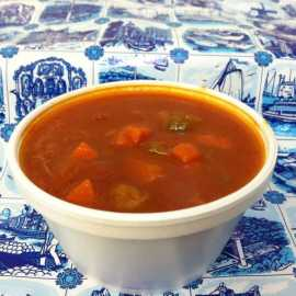 Dutch Tomato Meat-ball Soup