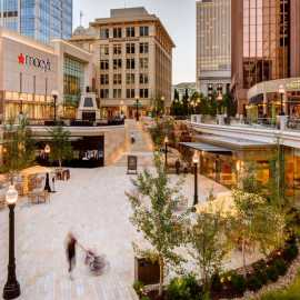 The plaza at City Creek Center