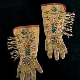 Beaded gloves