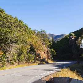 Much of the road has only a slight incline, photo by Kyle Jenkins