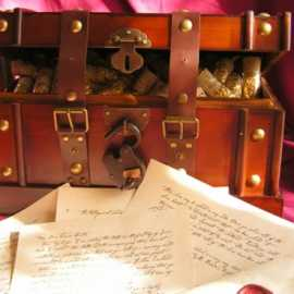 Double Key Treasure Box and Letter