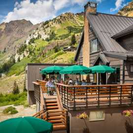 Patio and deck at Alta Lodge
