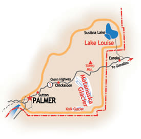 Map: Palmer, Sutton & Glenn Hwy