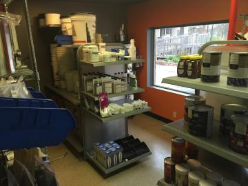Brew Link retail supply room