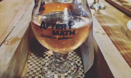 Aftermath Cidery and Winery Valparaiso flight