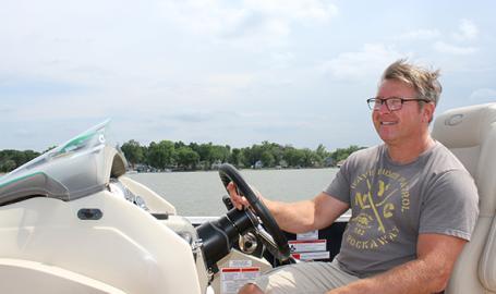 Cedar Lake Sunset Cruises Captain Dave