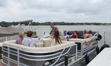 Cedar Lake Sunset Cruises docked