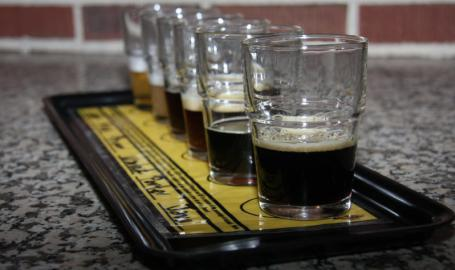 Crown Brewing Things to Do Crown Point Flight of Beer