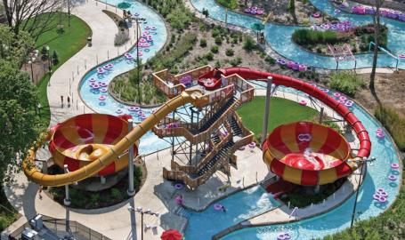 Deep River Waterpark Things to Do Crown Point Aerial