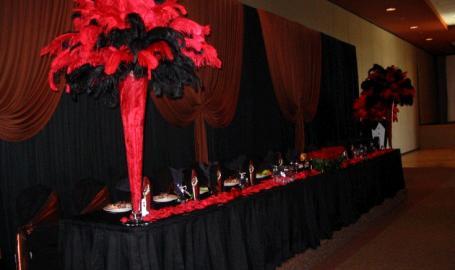 Halls of St. George Schererville Banquet Red Black