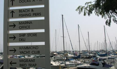 Hammond Marina Outdoors Signs
