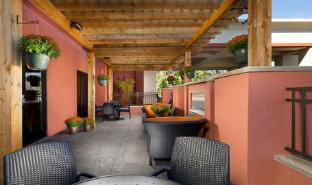 Hampton Inn Schererville Hotel patio
