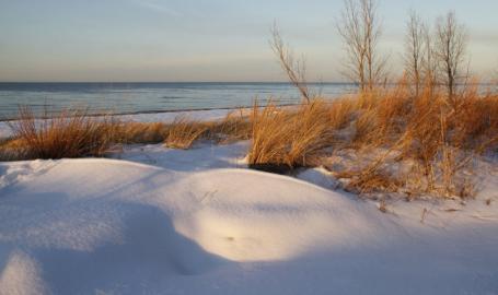 Indiana Dunes National Lakeshore Beaches winter
