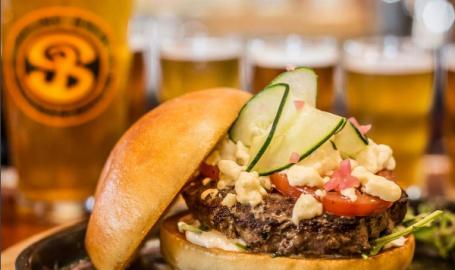 Lamb Burger at Shoreline Brewery