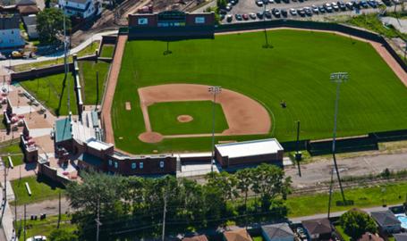Oil City Stadium field Whiting