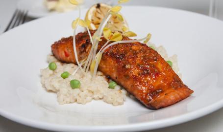 Miller Bakery Cafe Gary Restaurant Salmon Entree