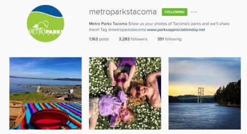 Metro Parks Tacoma Instagram