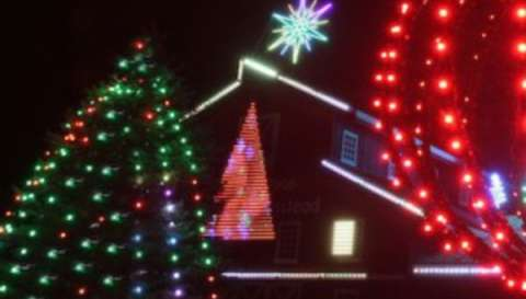 Holiday Lights on Farmstead Lane