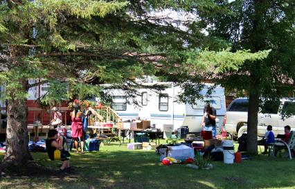 A common sight on weekends: The Yard Sale!