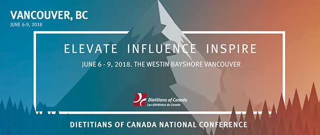 Vancouver Welcomes the Dietitians of Canada National Conference Logo