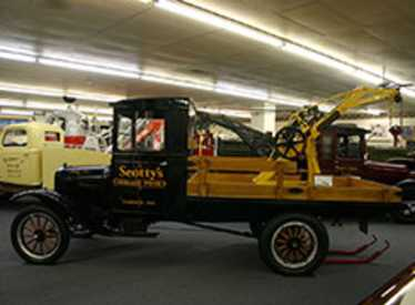 Black and yellow truck