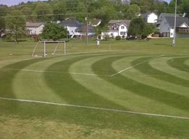 Upclose Soccer Field