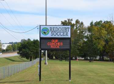 Redoubt Soccer Sign