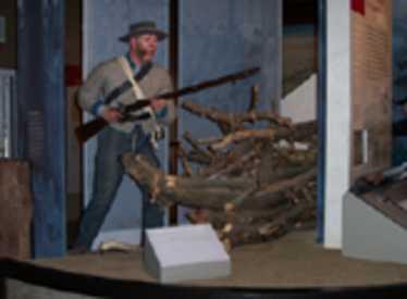 Display at Chickamauga & Chattanooga National Military Park