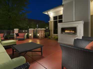 Outdoor Patio with Fireplace