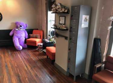 Lobby with Berry the Bear