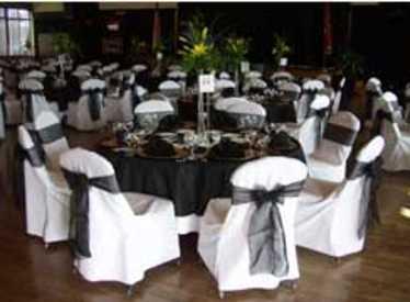 Banquet setup at Bessie Smith Center